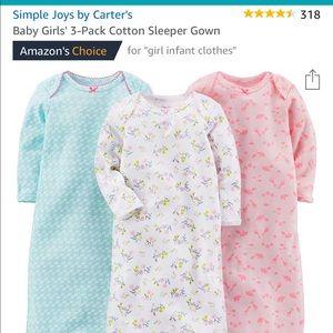 Baby girl sleeper gown